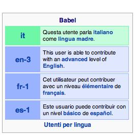 Questo è un babelbox: un modo colorato per inserire delle informazioni su di voi