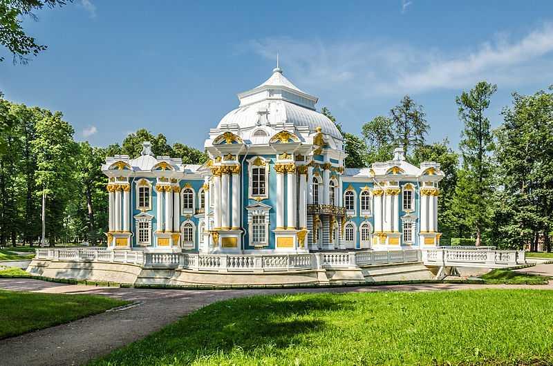 Padiglione dell'Hermitage, Tsarskoe Selo, San Pietroburgo. CC-BY-SA Florstein