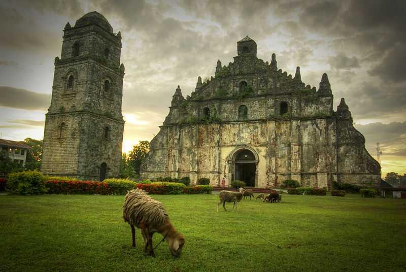 5° posto: Cattedrale di Paoay. CC-BY-SA Leoviernes1