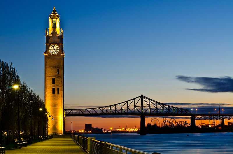 Torre dell'orologio, Montreal. CC-BY-SA Michael Vesia