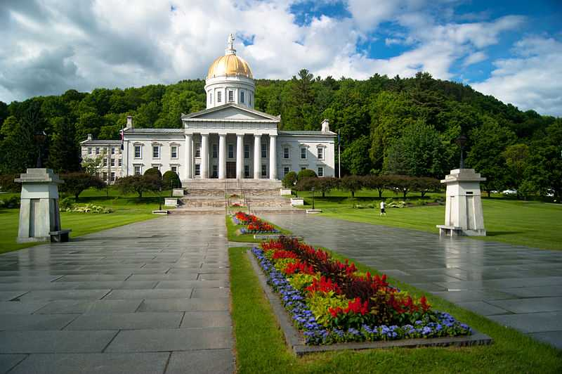 Vermont State House a Montpelier, Vermont. CC-BY-SA  Jonathanking