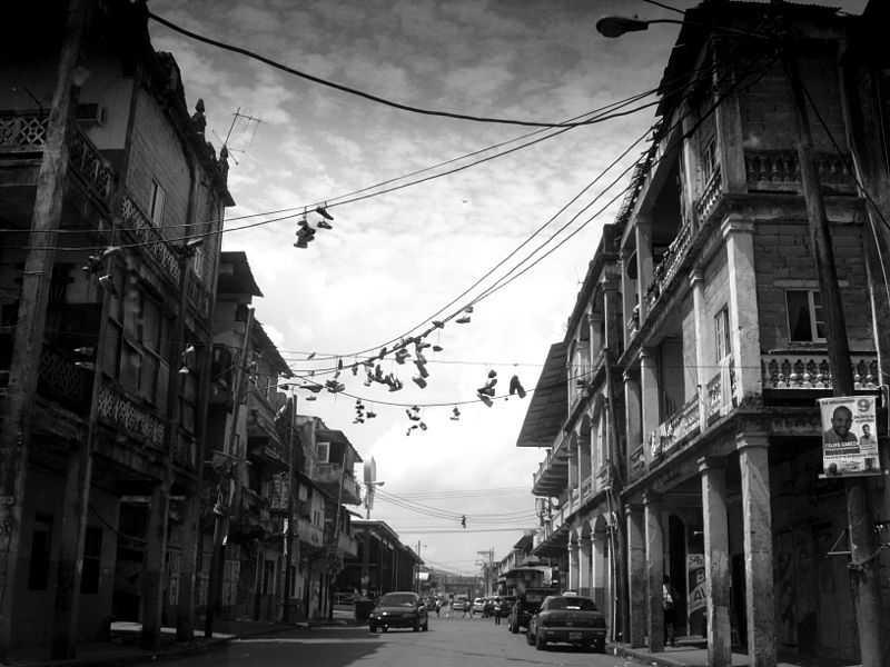Vecchie case nel quartiere sud, Colon City. CC-BY-SA  Inés Cabrera