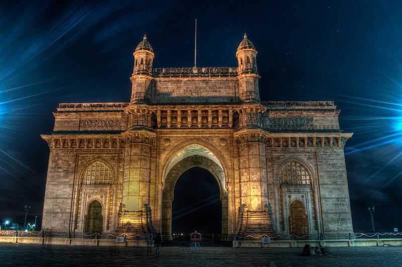 5° posto: Porta dell'India illuminata, Mumbai. CC-BY-SA Vijay Sharma