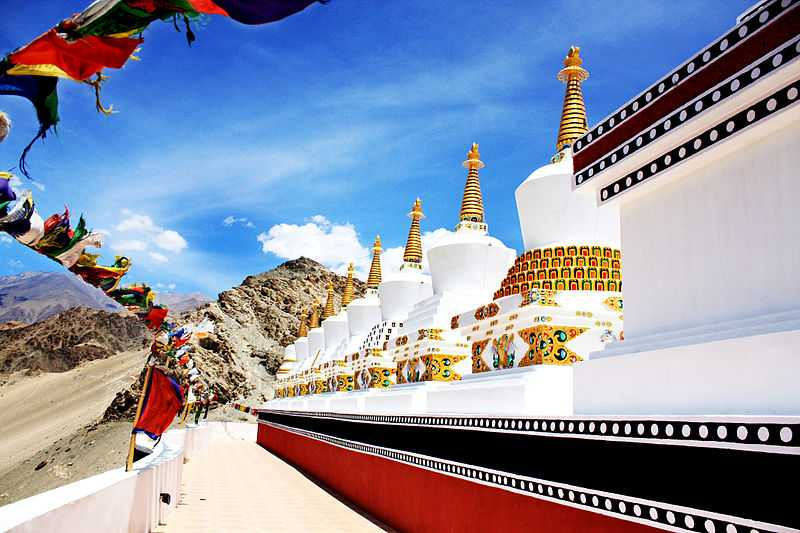 3° posto: i nove stupa di Thiksey Gonpa, Jammu & Kashmir. CC-BY-SA Mufaddal Abdul Hussain