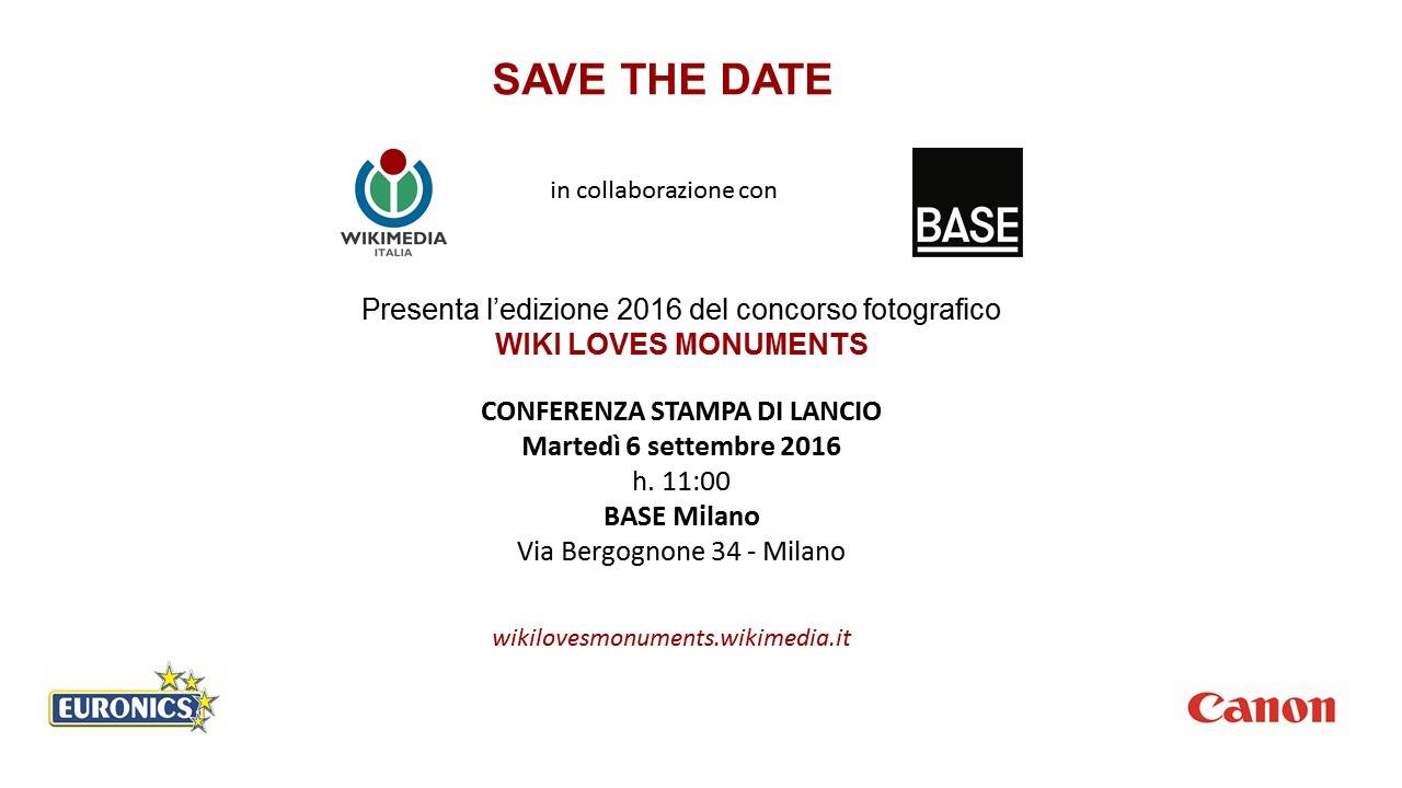 WLM2016 - save the date 6 settembre