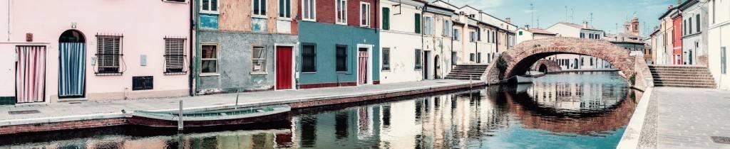 Premio Speciale Wiki Loves Via Emilia - 1° classificato Vanni Lazzari - Veduta di Comacchio, CC-BY-SA 4.0 via Wikimedia Commons