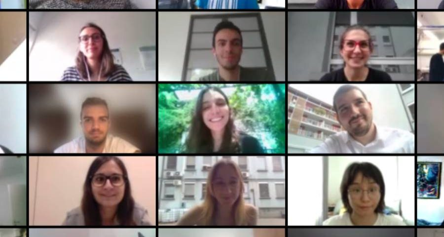 gruppo di dottorandi partecipanti al corso di wikimedia