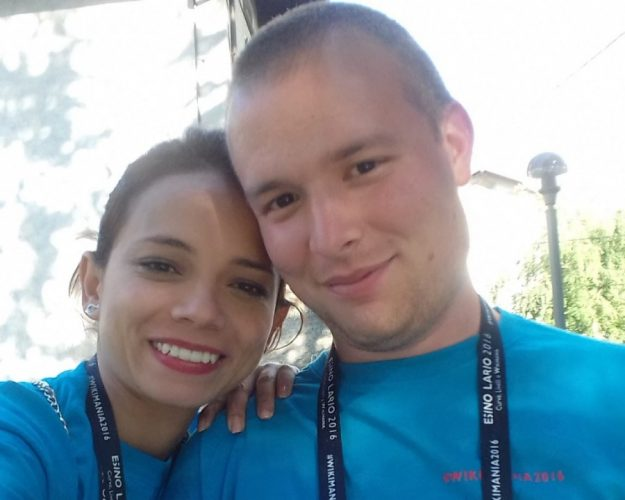 fabio e carla insieme a wikimania
